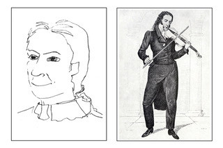 The portrait was drawn 7.4.2008, at the Purcell Room at the Queen Elizabeth Hall, Southbank, London, UK. Guitarist Ahmet Kaneci, Clarinet Ekrem Oztan. Sonata Concertata by Paganini Credit: Lebrecht Music + Arts