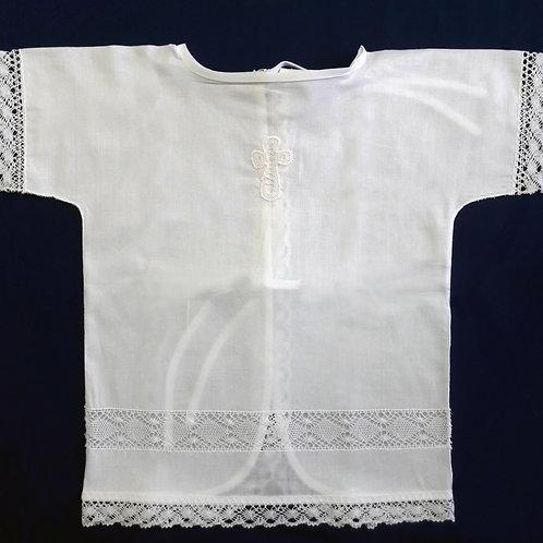 Крестильная сорочка (вставка ручное кружево)
