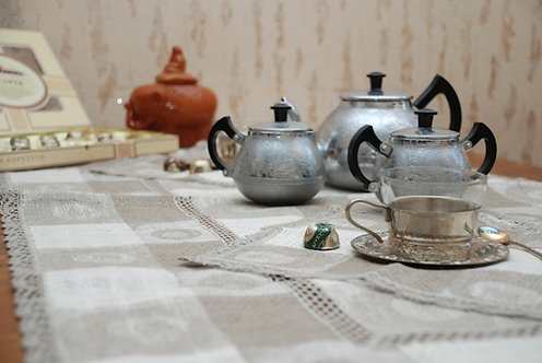 """Комплект """"Чайный"""" (скатерть, 6 салфеток)"""