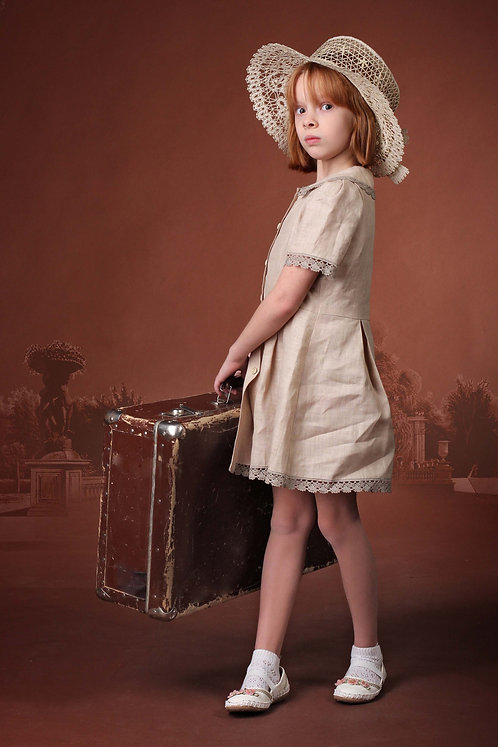 Платье детское с застежкой спереди