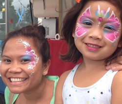 Floral Butterfly Face Painting