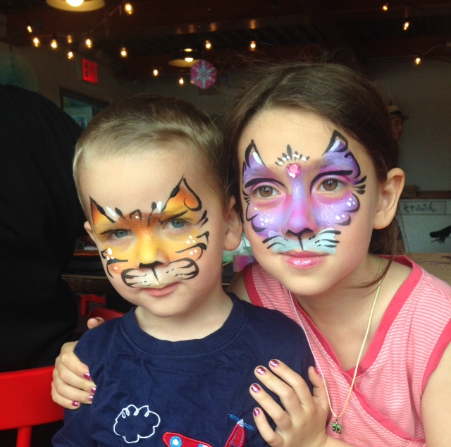 Fantasy Cats Face Painting