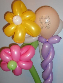 Flower balloon art