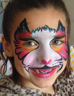 Rainbow Cat Face Painting