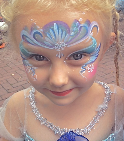 Snow Princess Face Painting