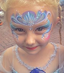 Snow Princess Face Painting