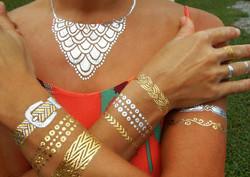 Metallic Jewelry Tattoo