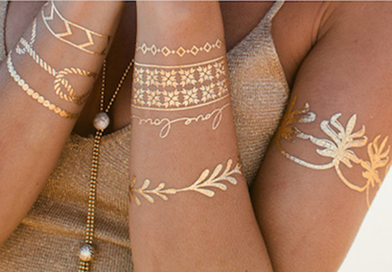metallic tattoo