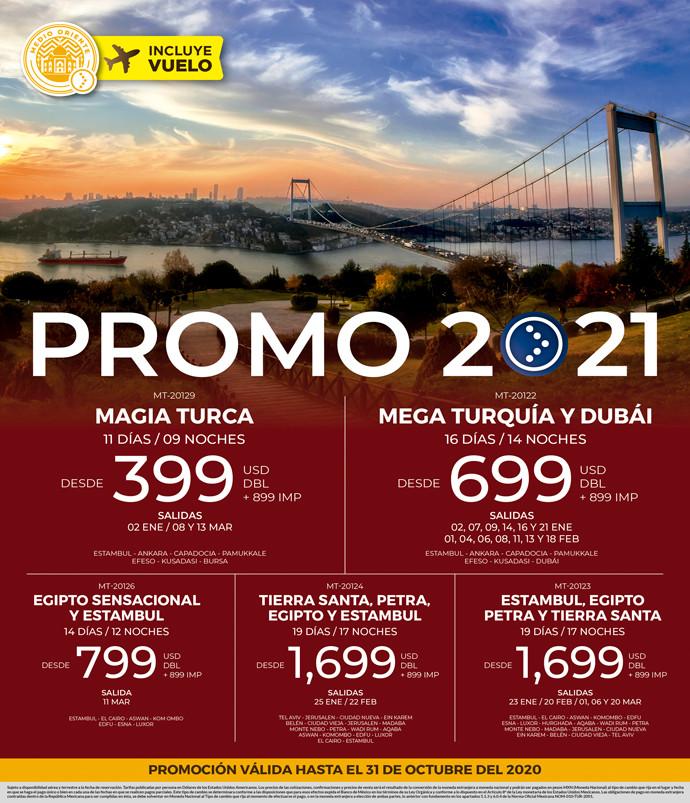 Promo 2021 Turquía y Dubái
