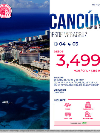 Cancún desde Veracruz