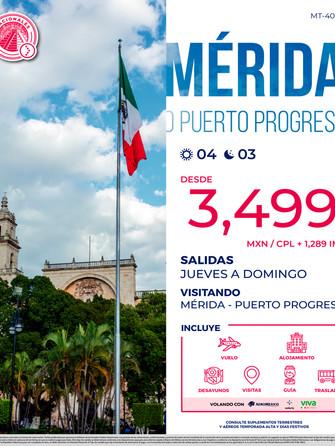 Mérida o Puerto Progreso