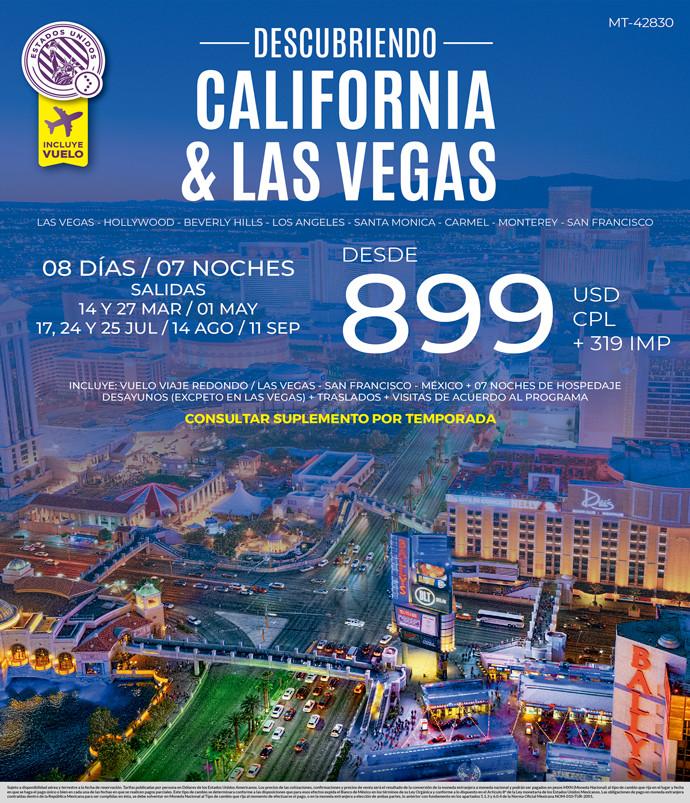 Descubriendo California y Las Vegas