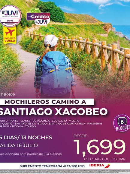 Mochileros Camino a Santiago