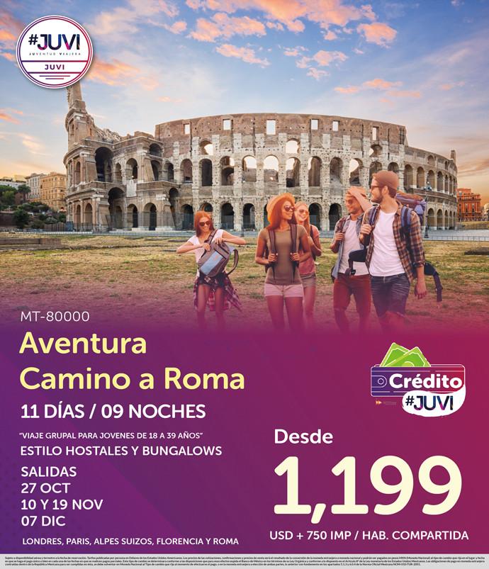 Aventura Camino a Roma