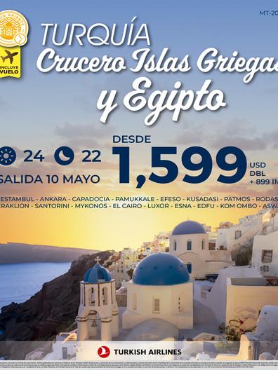 Turquía, Crucero Islas Griegas y Egipto
