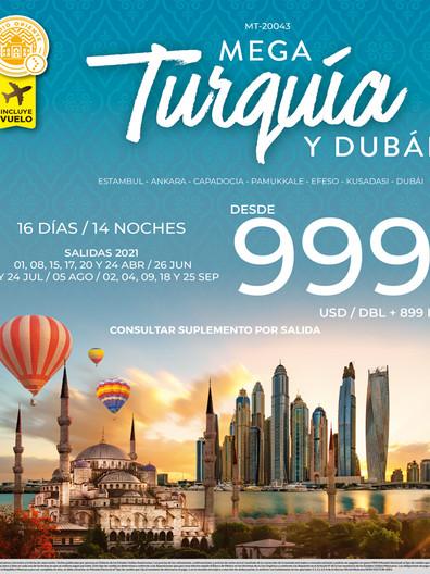 Mega Turquía y Dubái