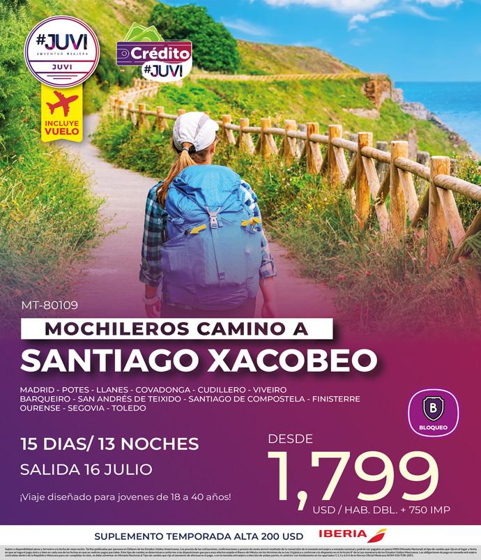 Mochileros Camino a Santiago Xacobedo