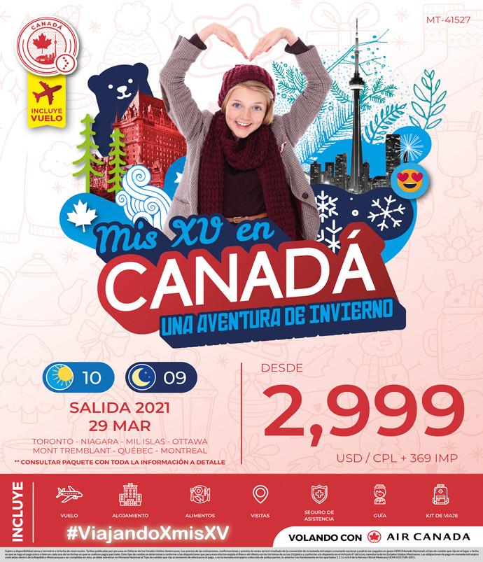 Mis XV en Canadá una Aventura de Invierno