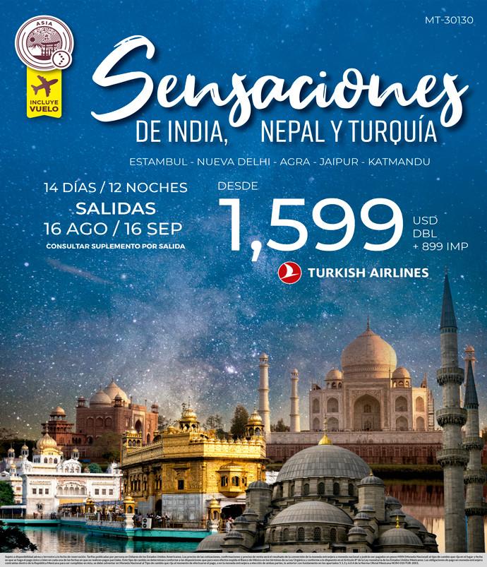 Sensaciones de India, Nepal y Turquía