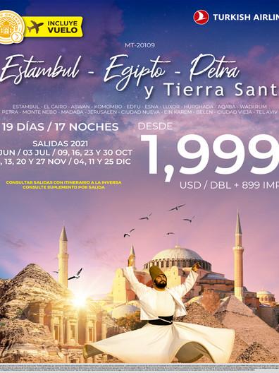 Estambul, Egipto, Petra y Tierra Santa