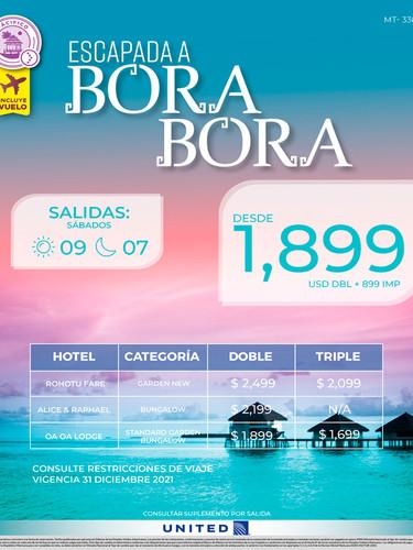 Escapada a Bora Bora