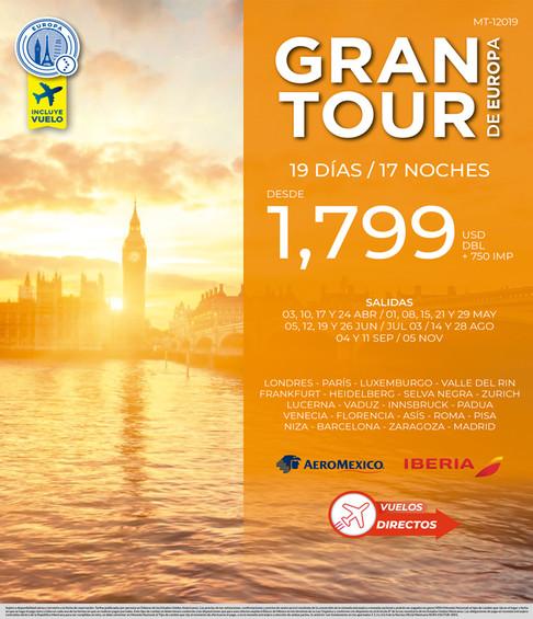 GRAN TOUR DE EUROPA