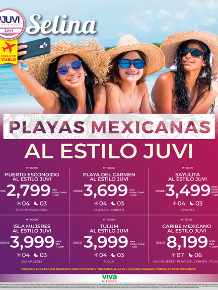 Playas Mexicanas al estilo Juvi