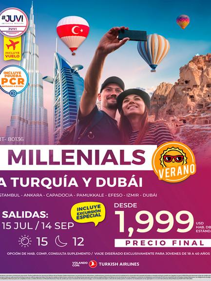 Millenials a Turquía y Dubái