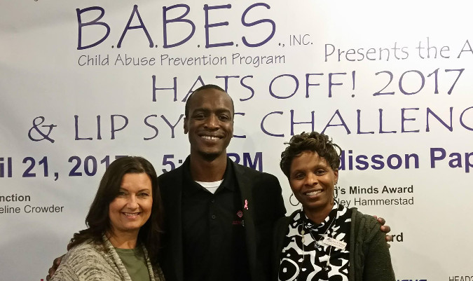Left to right , Kim Robinson Certified life coach, Marcus Evans Creator and Founder Justifeyed, Elder Williams Director B.A.B.E.S.