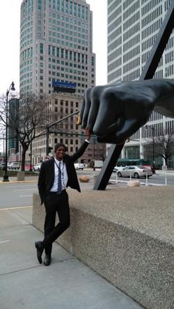 The Fist of Detroit,MI