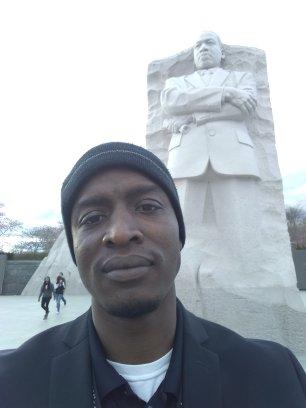 Visiting MLK Statue