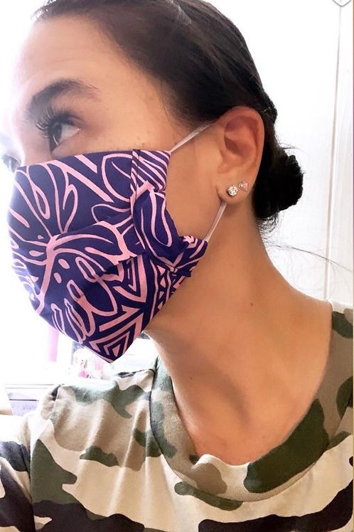 Purple and Pink Kanani Hawaiian Mask