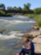 Montrose, Colorado, writing at the river