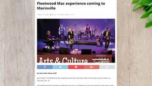 FLEETWOOD MAC EXPERIENCE COMING TO MORINVILLE