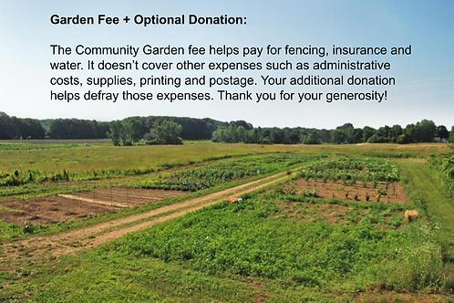 Community Garden Fee + $50 Donation