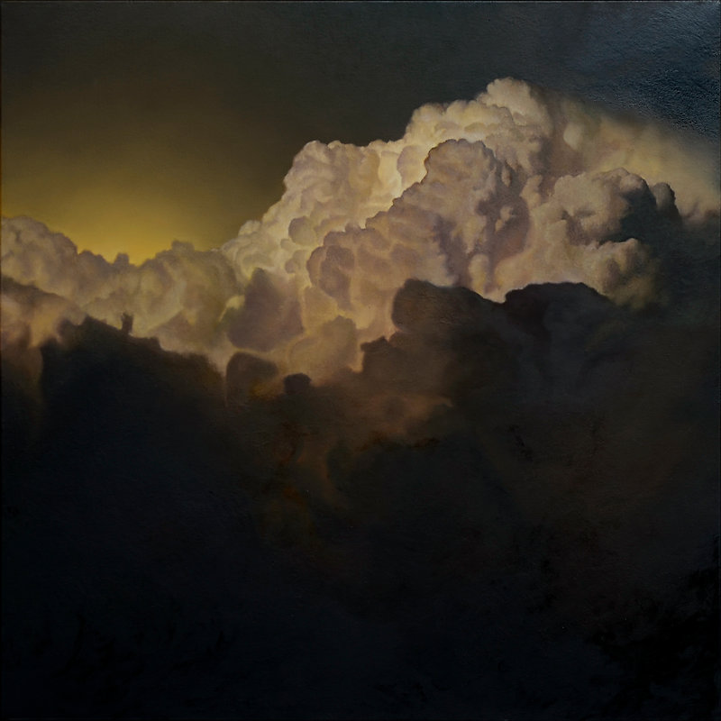 clouds,wolken, hyperrealism,oilpainting,malerei,schweiz,landscape