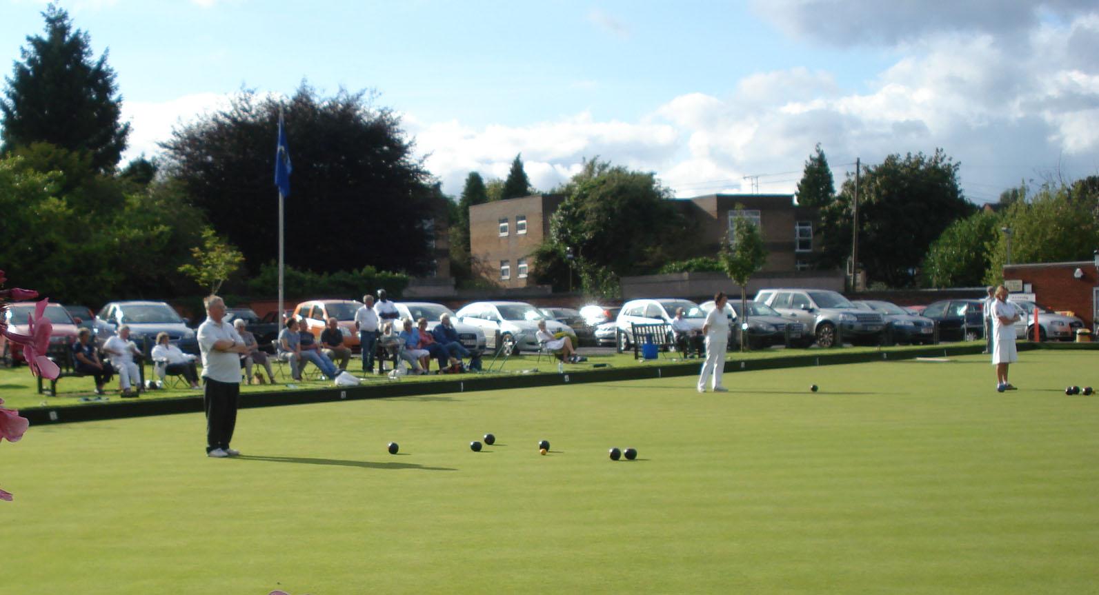 Matches underway with spectators