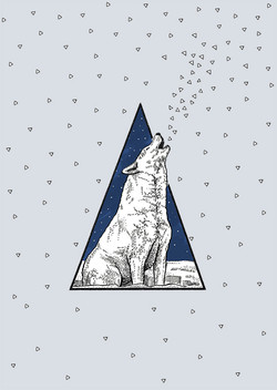 POSTCARD WOLF