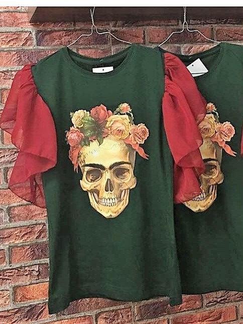 Camiseta SKULL Verde