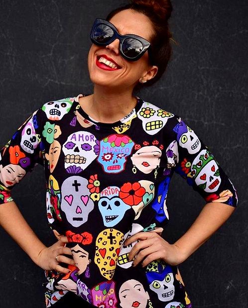 Camiseta Frida Calaveras