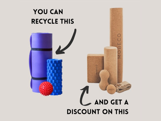HOW TO RECYCLE YOUR YOGA MAT AND SELF MASSAGE TOOLS