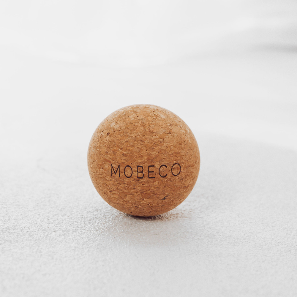 Bye knots with MOBECO Cork Ball. #byeknots #mobeco #corkball #massageball