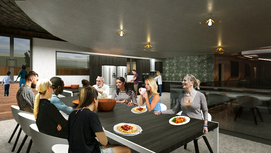 Communal Dining and Kitchen