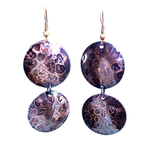 Copper Coin Earrings (Double Style 1)