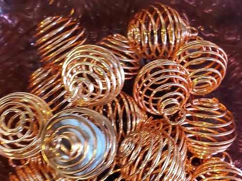 Copper Gemstone Cage (Large)