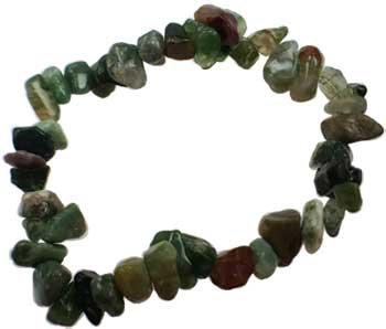 Bloodstone Chip Gemstone Bracelet