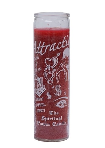 Attraction (Red or Pink) 7 day candle