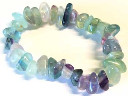 Fluorite Chunk Gemstone Bracelet