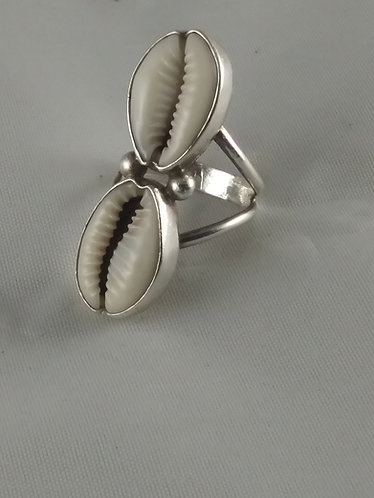 Cowrie Shell Ring (Doublestack)