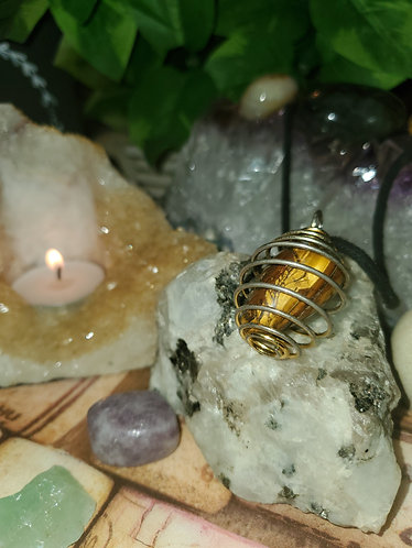 Gemstone Necklace (Caged)